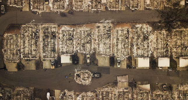 Residences leveled by the wildfire line a neighborhood in Paradise, Calif., on Thursday, Nov. 15, 2018. (AP Photo)