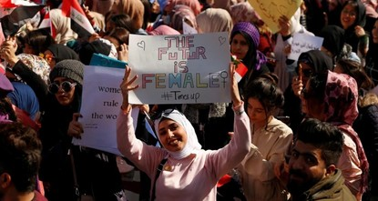 Iraqi women defy top cleric's call to separate genders at rallies
