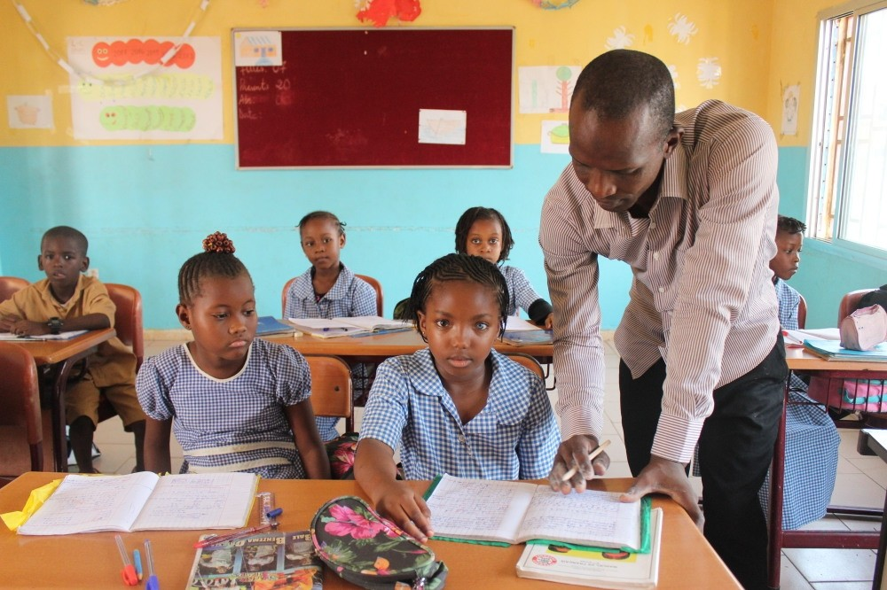 Student at a Maarif school in Guinea, which was the first country to hand over the FETu00d6 schools to Maarif Foundation.
