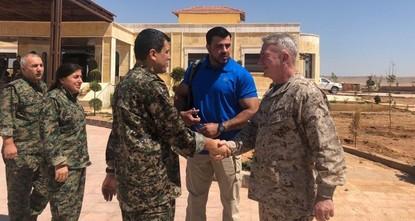 US general, envoy meet with top YPG terrorist in Syria