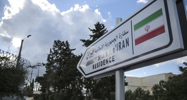 لافتة تشير إلى السفارة الإيرانية في الرباط والتي أغلقت مؤخراً (ap)