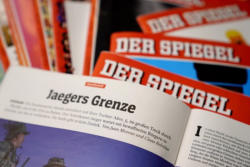 Illustrative picture shows an article by Juan Moreno and Claas Relotius in the German magazine 'Der Spiegel' in Berlin, Germany, Dec. 19, 2017. (EPA Photo)
