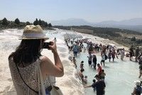Travertine paradise Pamukkale welcomes visitors from across globe