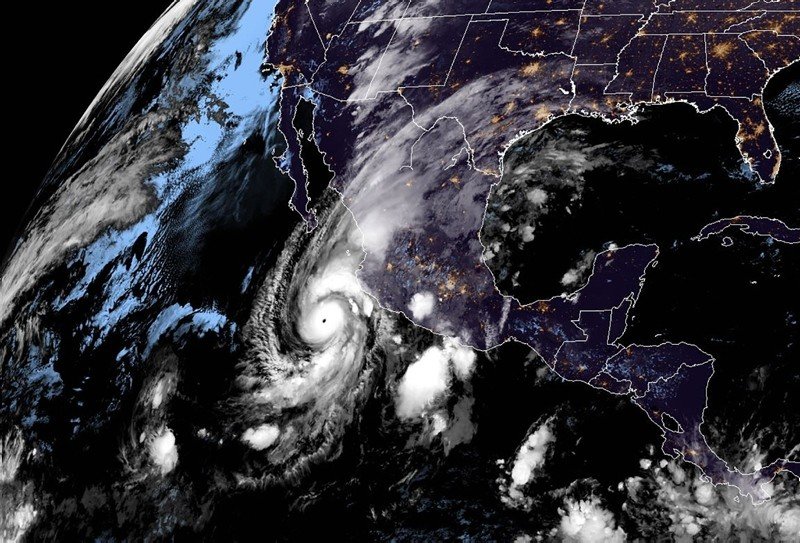 This NOAA/RAMMB satellite handout image taken AT 5:30 UTC on October 22, 2018 shows hurricane Willa off Mexico's Pacific coast. (AFP Photo)