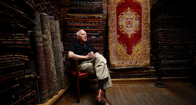 89-year-old Şemsettin Şengör has spent most of his life in the carpet shop he began working in at the age of 6.