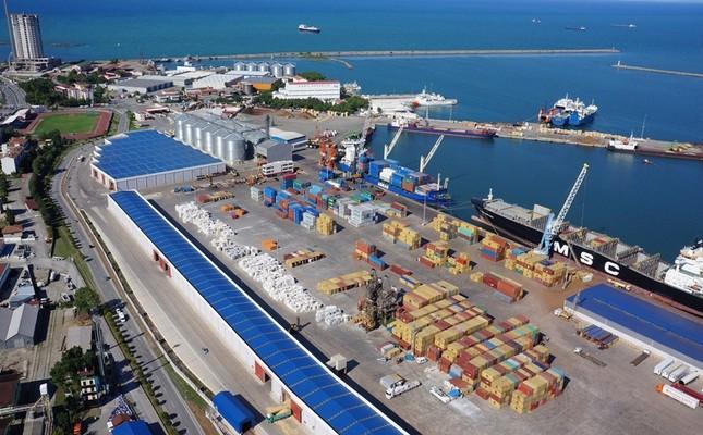 This file photo shows the Black Sea port of Samsun.