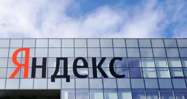 The logo of Russian internet group Yandex at the company's headquarter in Moscow, Russia, October 4, 2018. (Reuters Photo)