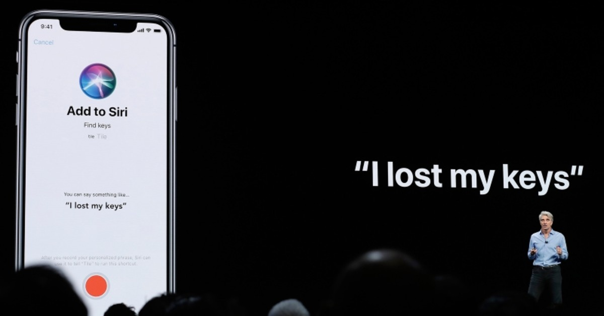 In this June 4, 2018, file photo Craig Federighi, Apple's senior vice president of Software Engineering, speaks about Siri during an announcement of new products at the Apple Worldwide Developers Conference in San Jose, California. (AP File Photo)
