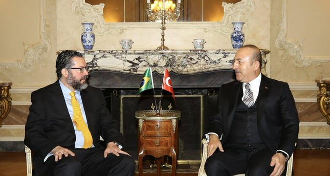FM Çavuşoğlu conveys Turkey's concern on Brazil embassy move