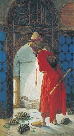 """The Tortoise Trainer"" by Osman Hamdi Bey."
