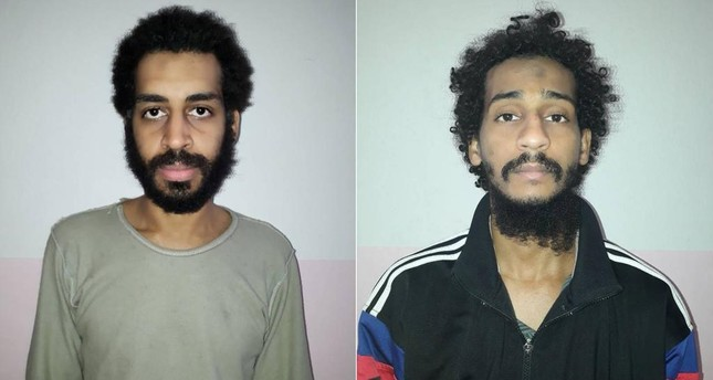 Alexanda Kotey and Shafee El Sheikh, members of a group of Daesh terrorists known as the the Beatles. (Reuters Photo)