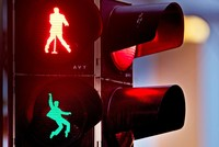 German town transforms traffic lights with 'Elvis Presley' figures to commemorate singer