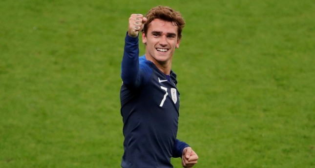 October 16, 2018 France's Antoine Griezmann  celebrates scoring their first goal. (REUTERS Photo)