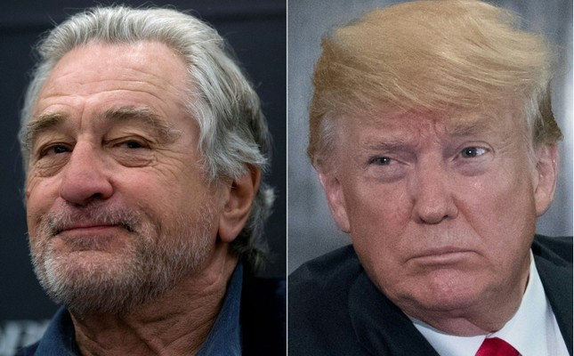 This combination of file pictures created on June 12, 2018 shows US actor Robert De Niro (L) and US President Donald Trump (AFP Photo)