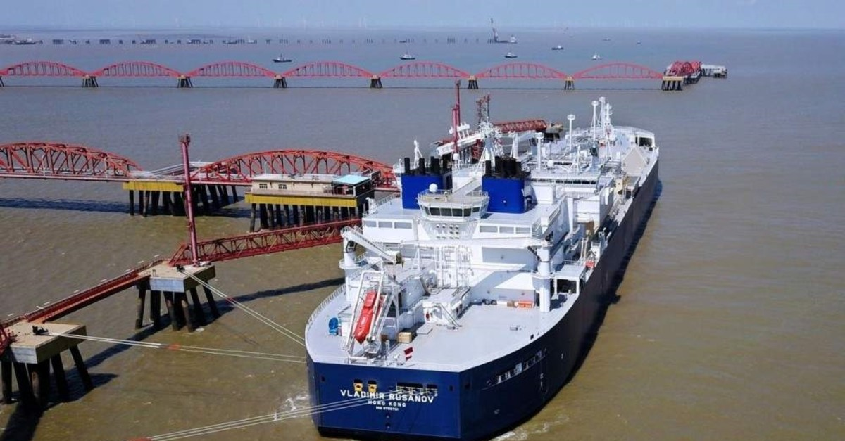 A vessel carrying a liquefied natural gas cargo from Russia's Yamal LNG project is seen at Rudong LNG Terminal in Nantong, China. (REUTERS)