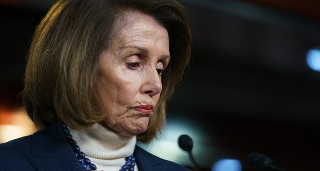 House Speaker Nancy Pelosi of Calif., pauses as she speaks during a news conference on Capitol Hill in Washington, Thursday, Jan. 17, 2019. AP Photo