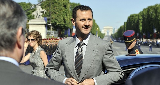 In this file photo taken on July 14, 2008 Syrian president Bashar Assad is seen during celebrations for the Bastille Day in Paris. (AFP Photo)