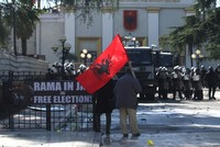 Anti-gov't protesters attempt to storm Albania parliament