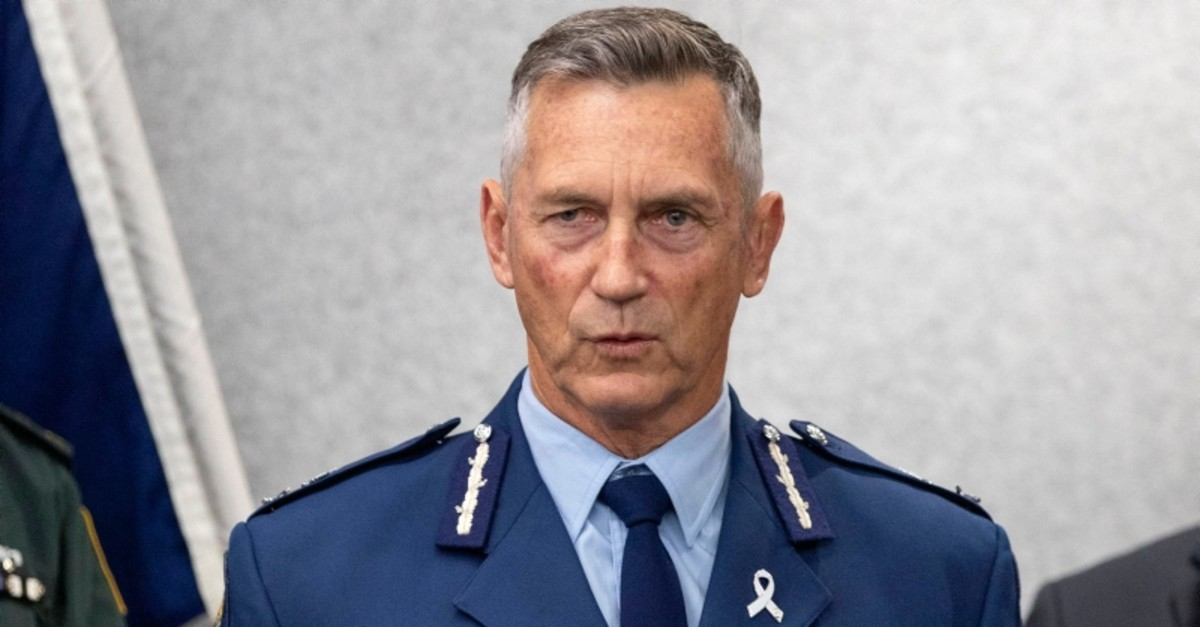 New Zealand Police Commissioner Mike Bush addresses a press conference in Christchurch, New Zealand, Saturday, March 16, 2019. (AP Photo)