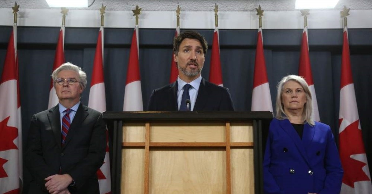 Canadian Prime Minister Justin Trudeau speaks at a news conference on Jan. 17, 2020, in Ottawa, Canada. (AFP Photo)