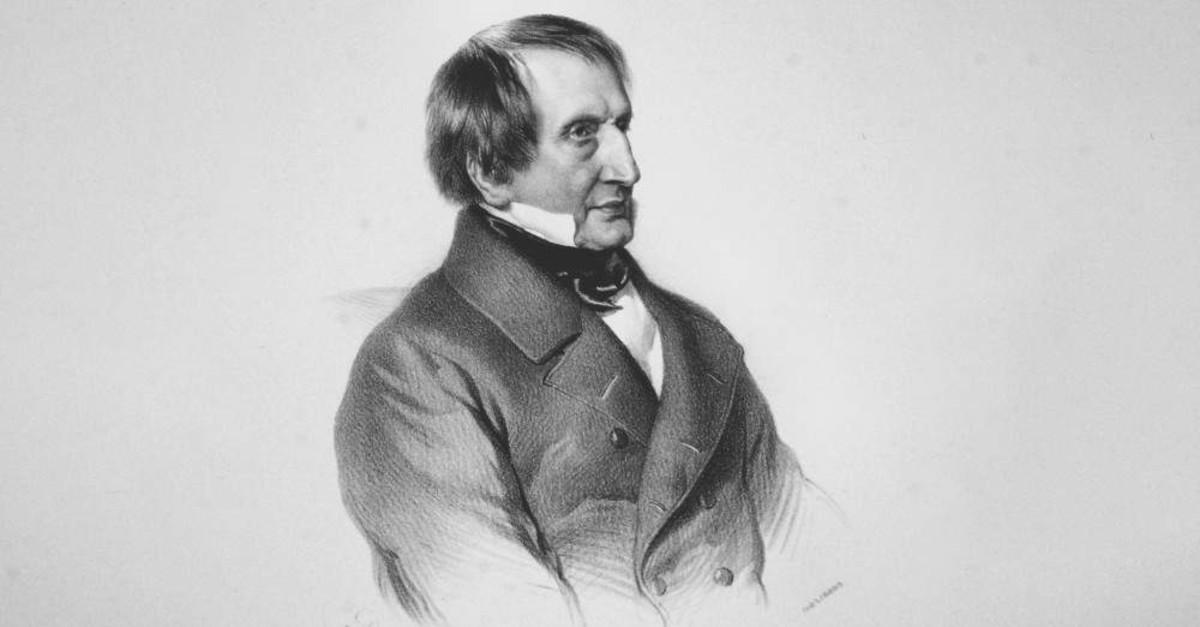A lithograph by Austrian painter Adolf Dauthage depicts Joseph von Hammer-Purgstall, 1852.