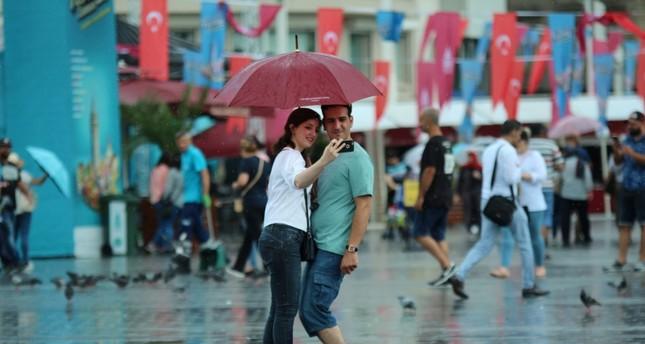 الأرصاد التركية تتوقع هطول أمطار صيفية على إسطنبول اليوم