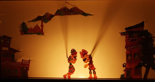 Photo shows Karagöz and Hacivat, the lead characters in the popular Turkish shadow play. (FILE Photo)