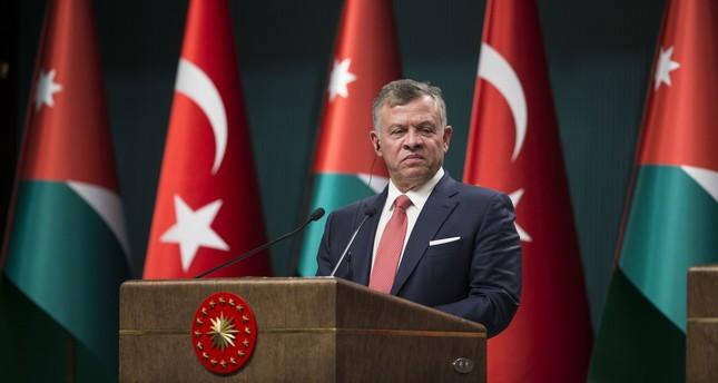 ملك الأردن: نحيي الذكرى الـ70 للروابط التاريخية والدبلوماسية بين أنقرة وعمان