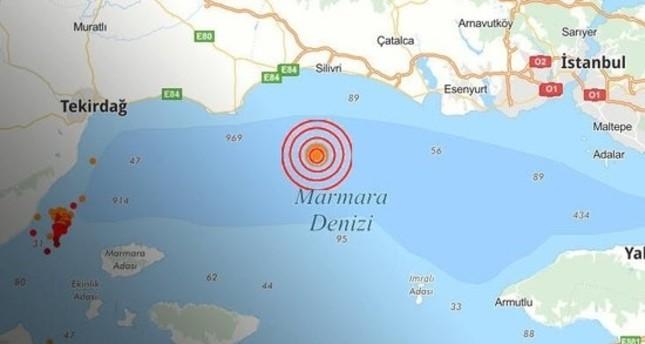 زلزال متوسط الشدة يضرب إسطنبول مركزه قبالة سواحل سيليفري