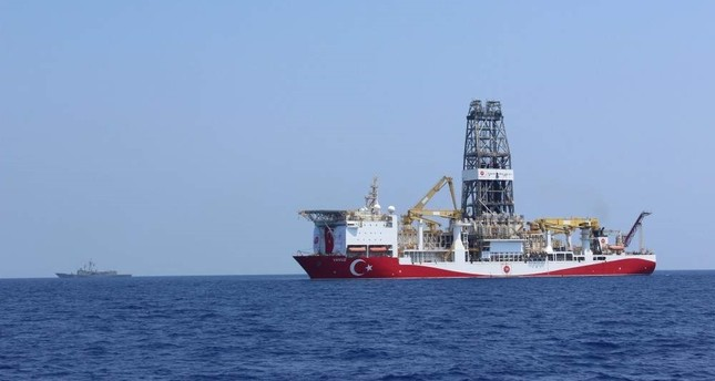 Turkey's second drilling vessel Yavuz has been carrying out operations in the Eastern Mediterranean since June 2019. DHA Photo