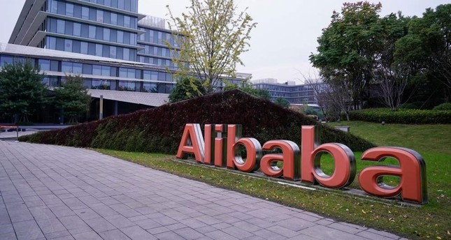 The Alibaba Group logo is seen at the company's headquarters in Hangzhou, Zhejiang province, China, Nov. 18, 2019. (Reuters Photo)
