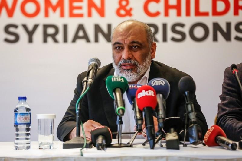 Humanitarian Relief Foundation (IHH) Chairman Bu00fclent Yu0131ldu0131ru0131m speaks at a news conference in Istanbul on Dec. 10, 2018. (AA Photo)