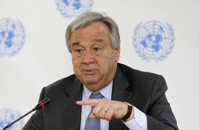 In this March 8, 2017 file photo, U.N. Secretary-General Antonio Guterres speaks during a press conference at the U.N. in Nairobi, Kenya. The United Nations said Tuesday, May 1, 2018. (AP Photo)