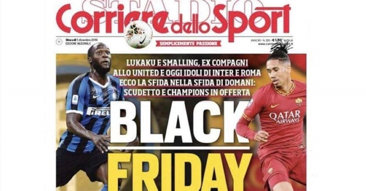 Italian sports newspaper Corriere dello Sport received backlash after using the phrase ,Black Friday, in its headline in reference to Inter's Belgian forward Romelu Lukaku.