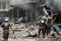 Russian airstrikes on northwest Syria's Idlib province Monday killed at least 37 civilians including 12 children, a Britain-based monitor said.  The Syrian Observatory for Human Rights said it...