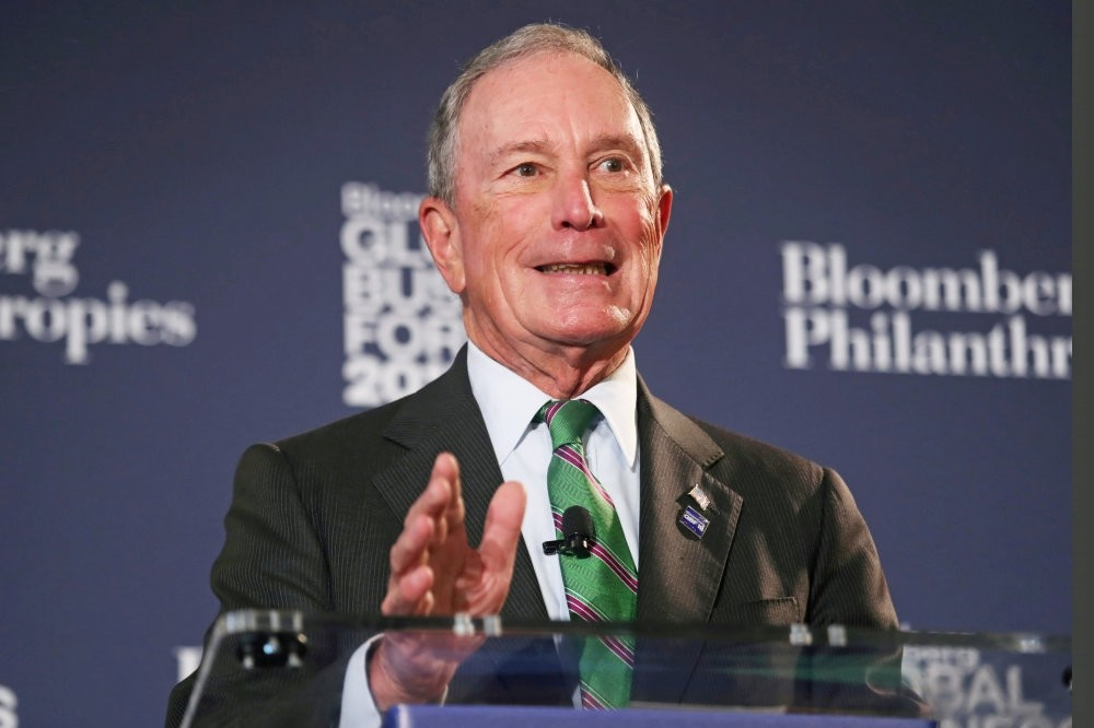 Former New York City Mayor Michael Bloomberg speaks at the Bloomberg Global Business forum, New York, Sept. 26.