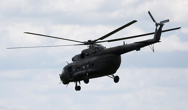 A Russian-made MI-17 helicopter of the Colombian army is seen flying in Meta, Colombia Jan. 14, 2018 (Reuters Photo)