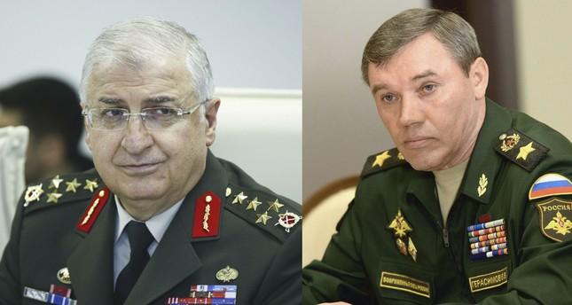 Güler (L) and his Russian counterpart Gerasimov