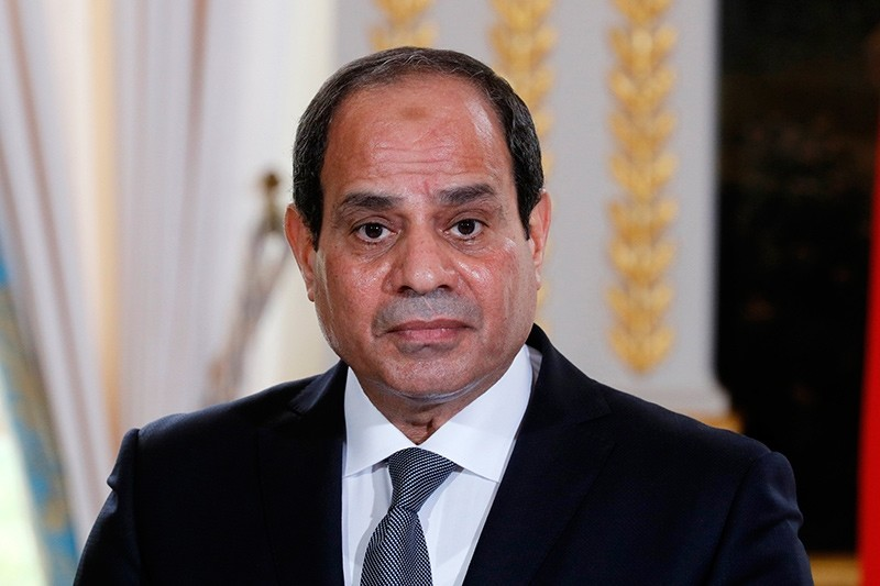 Egyptian President Abdel-Fattah el-Sissi attends a news conference with French President Emmanuel Macron (not pictured) at the Elysee Palace, in Paris, France, 24 October 2017 (EPA Photo)