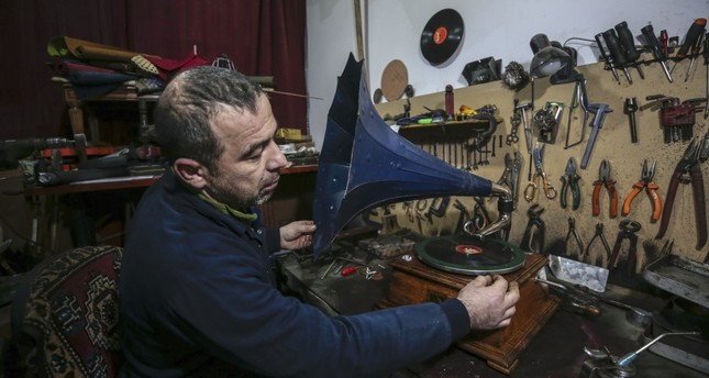 Savaş Şekerbay discovered his interest in antique pieces while trying to repair broken gramophones, eventually starting this interesting collection.