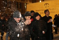Turkish rector lets loose, joins snowball fight with students