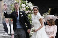 Famously the bridesmaid, now the bride: Pippa Middleton marries at almost-royal wedding