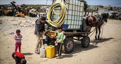 pAs temperatures soar in the Palestinian territories, thousands of Palestinian families suffer from severe water shortages - while Israelis living in nearby Jewish settlements enjoy abundant...