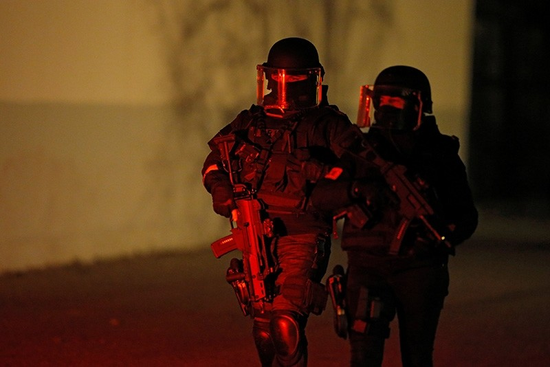 French special police forces secure an area during a police operation in the Meinau district after the deadly shooting in Strasbourg, France, Dec. 13, 2018. (Reuters Photo)