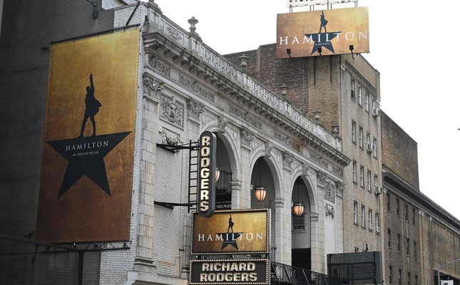 The Richard Rodgers Theatre where Hamilton, one of Broadway's biggest hits, is playing in New York.