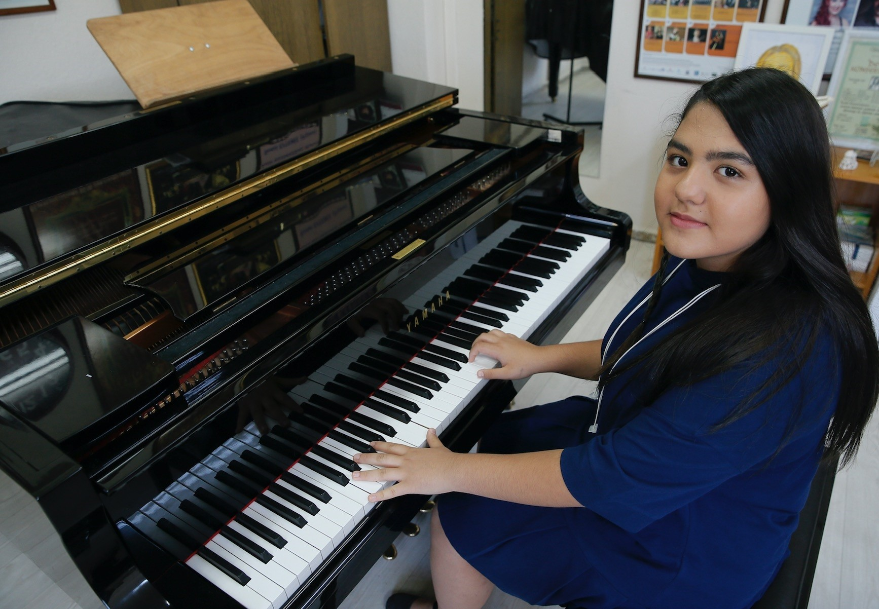 Tunay Kurban won second place at the Mozart Academy International Piano Competition and the Tadini International Music Competition in Italy, which was organized on June 5.