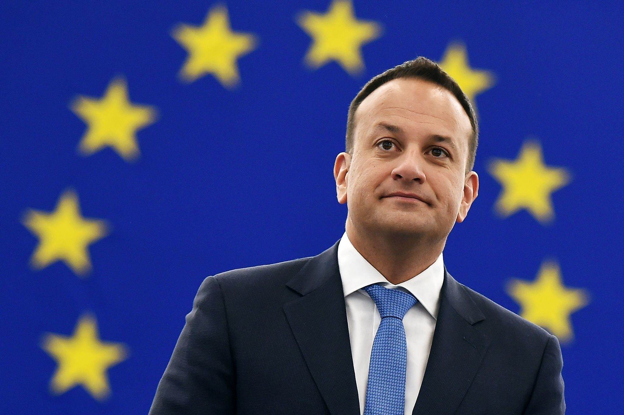 Irish Prime minister Leo Varadkar looks on prior to attend a debate during a plenary session at the European Parliament on January 17, 2018 in Strasbourg, eastern France. (AFP Photo)
