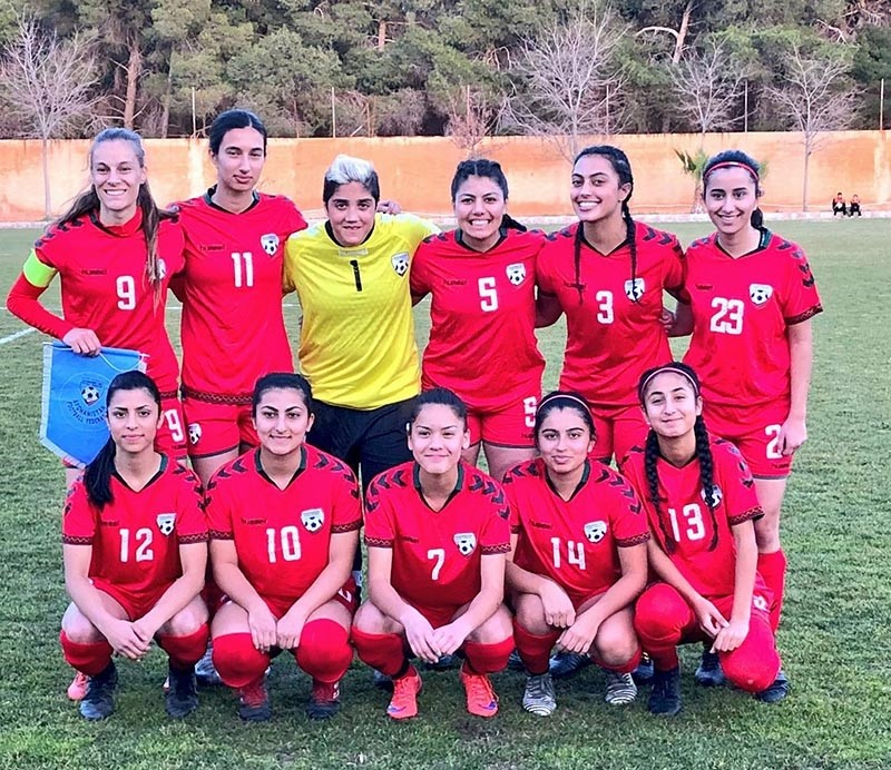 Photo via Facebook from Afghanistan Women's National Football Team