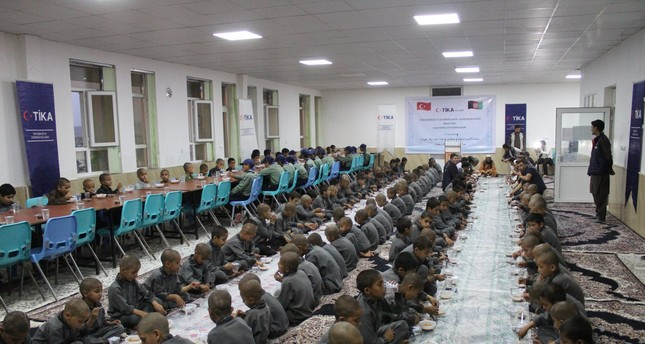 An iftar, or fast-breaking dinner, organized by the Turkish Cooperation and Coordination Agency (TİKA) in Herat, Afghanistan, June 1, 2019.