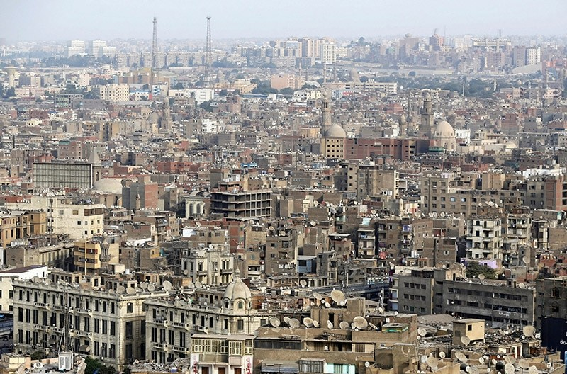 Crowded residential buildings seen in Cairo, Egypt, Nov. 11, 2016. (Reuters Photo)